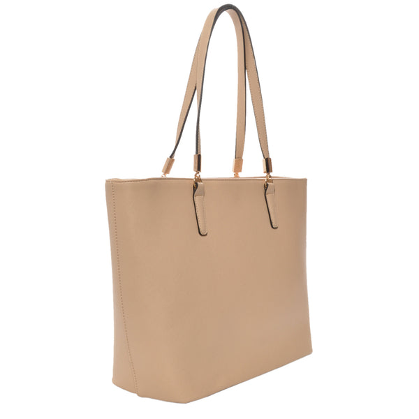 Mechaly Women's Sydney Tan Vegan Leather Tote Handbag