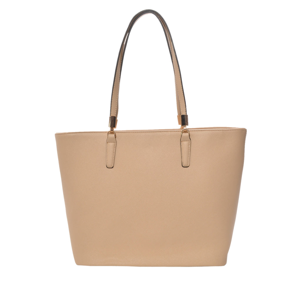 Sydney Tan Vegan Leather Tote Handbag
