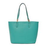 Mechaly Women's Sydney Green Vegan Leather Tote Handbag