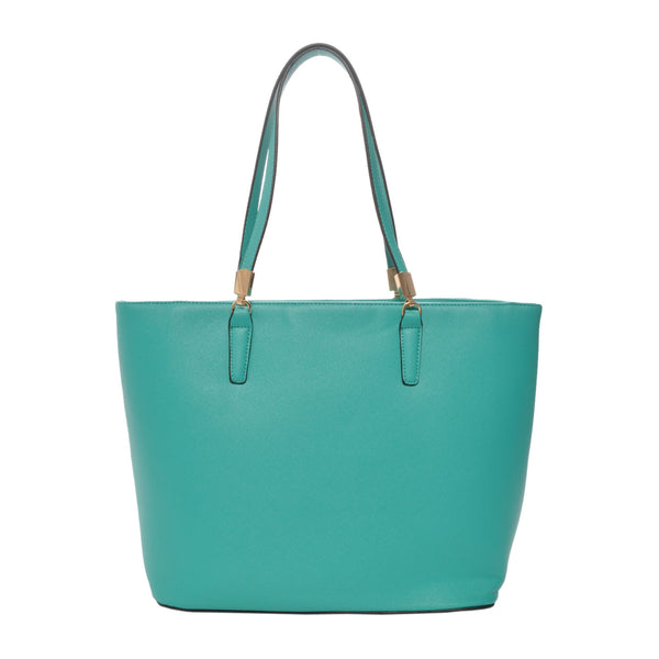Sydney Green Vegan Leather Tote Handbag