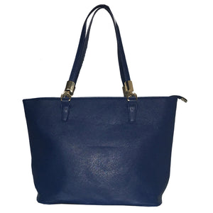 Mechaly Women's Sydney Blue Vegan Leather Tote Handbag