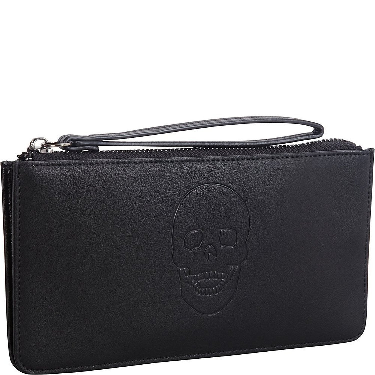 Mechaly Women's Skully Red Vegan Leather Skull Handle Wallet