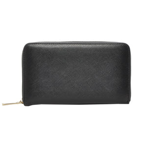 Mechaly Women's Zatie Black Vegan Leather Wallet