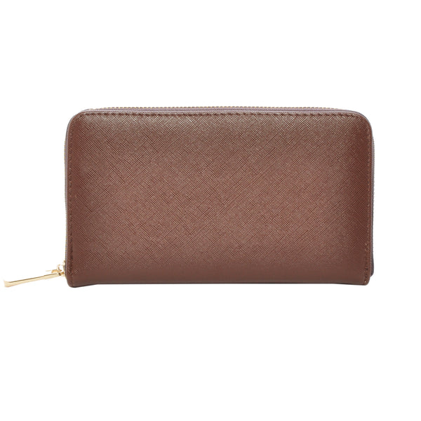 Mechaly Women's Katie Chocolate Vegan Leather Wallet