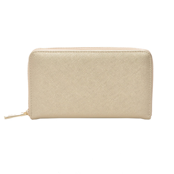 Mechaly Women's Katie Gold Vegan Leather Wallet