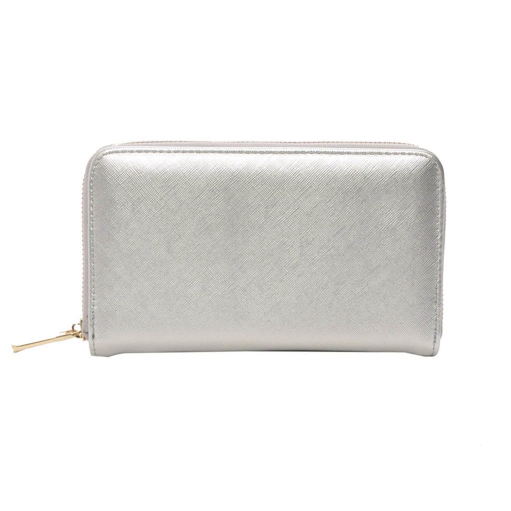 Mechaly Women's Zatie Silver Vegan Leather Wallet