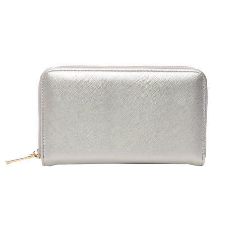 Mechaly Women's Katie Silver Vegan Leather Wallet