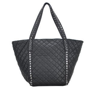 Mechaly Women's Ivy Black Vegan Leather Tote Handbag