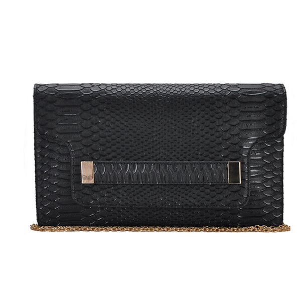 Mechaly Women's Melody Black Vegan Leather Clutch