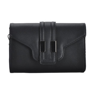 Mechaly Women's Nicky Black Vegan Leather Clutch