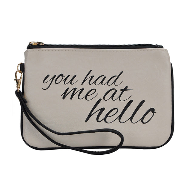 Mechaly Women's Slogan Hello Bone Vegan Leather Wallet