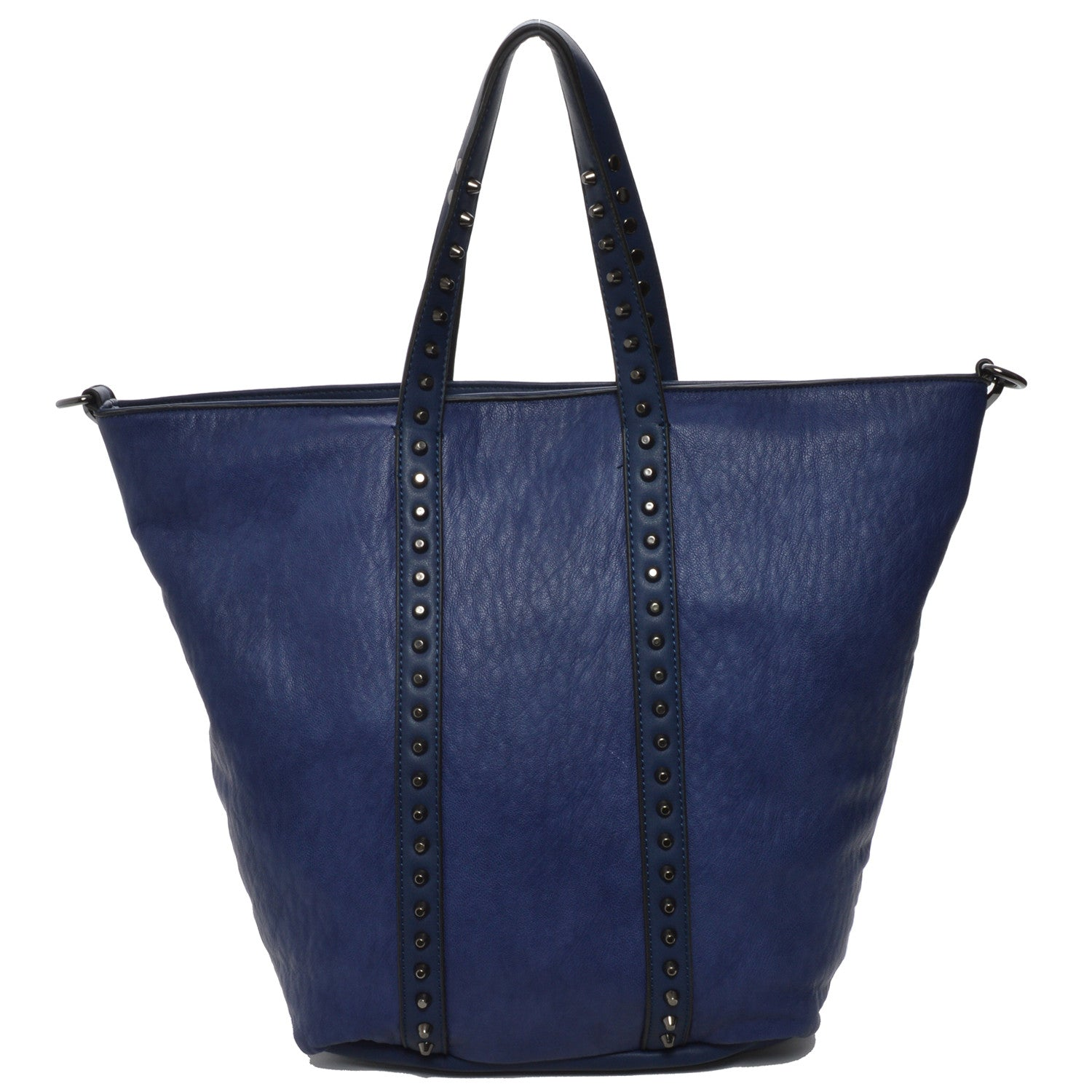 Mechaly Women's Holly Blue Vegan Leather Tote...