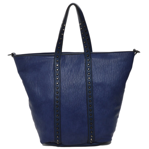 Mechaly Women's Holly Blue Vegan Leather Tote Handbag