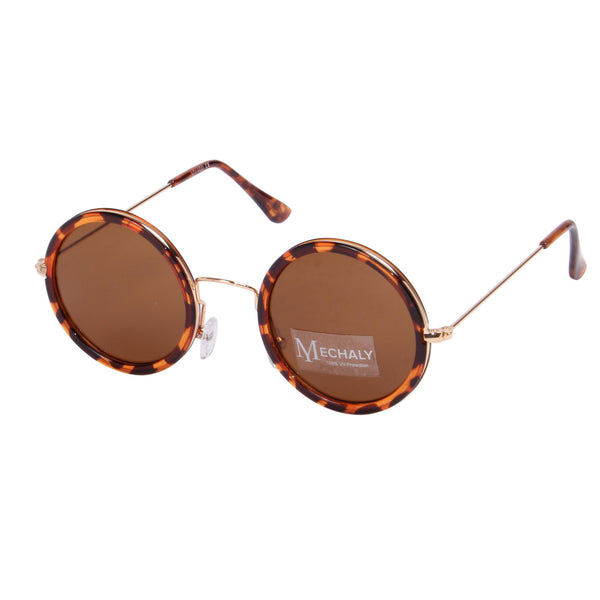 Mechaly Round Style Tortoise Sunglasses