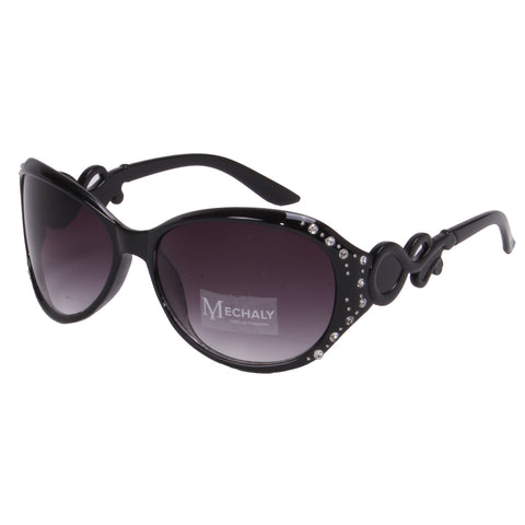 Mechaly Oval Style Black Sunglasses