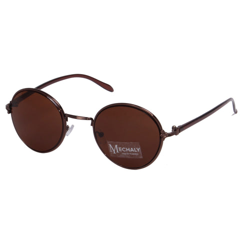 Mechaly Round Style Brown sunglasses