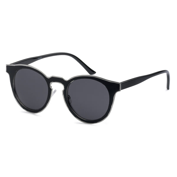 Mechaly Cat Eye Style Sunglasses with Black Frame & Black Lens