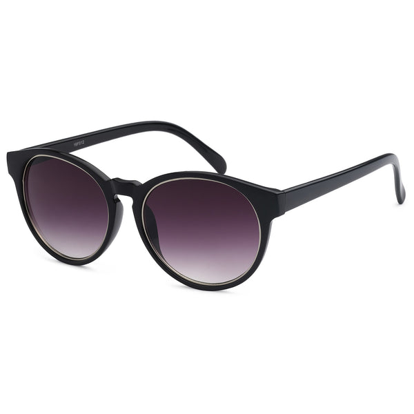 Mechaly Oval Style Sunglasses with Black Frame & Black Lens