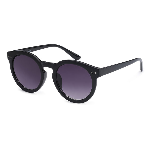 Mechaly Round Style Sunglasses with Black Frame & Black Lens
