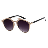 Mechaly Cat Eye Style Sunglasses with Rose Gold Frame & Black Lens