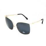 Mechaly Rectangle Style Sunglasses with Gold Frame & Black Lens