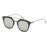 Mechaly Square Style Sunglasses with Gunmetal Frame & Silver Mirror Lens