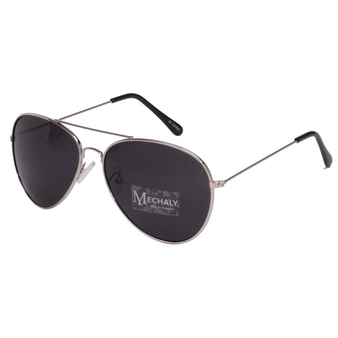 Mechaly Aviator Style Silver Sunglasses