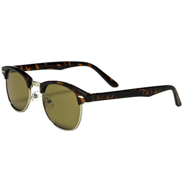 Mechaly Clubmaster Style Tortoise Sunglasses