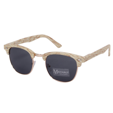 Mechaly Clubmaster Style White Sunglasses