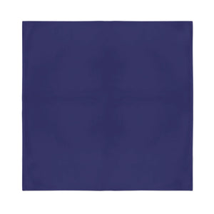 Square Bandana - Navy Blue Plain