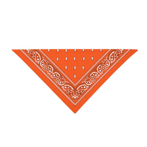 Triangle Bandana - Neon Orange Paisley