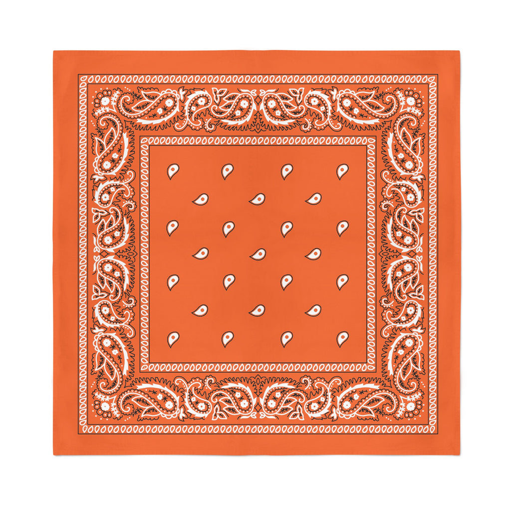 Square Bandana - Orange Paisley