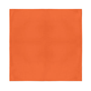 Square Bandana - Orange Plain