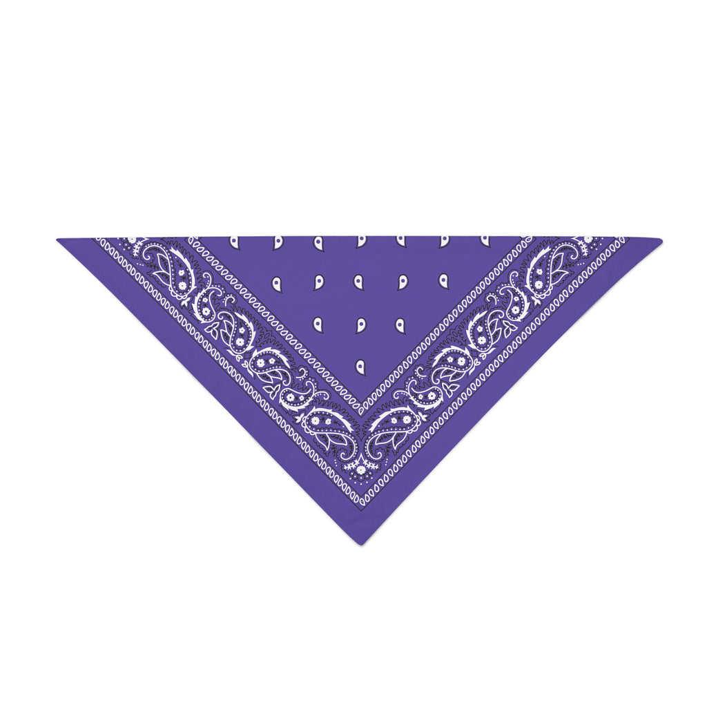 Triangle Bandana - Purple Paisley