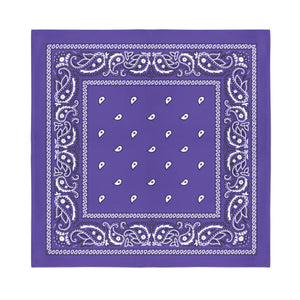 Square Bandana - Purple Paisley