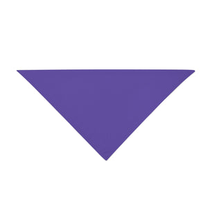 Triangle Bandana - Purple Plain
