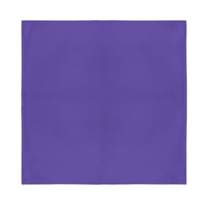Square Bandana - Purple Plain