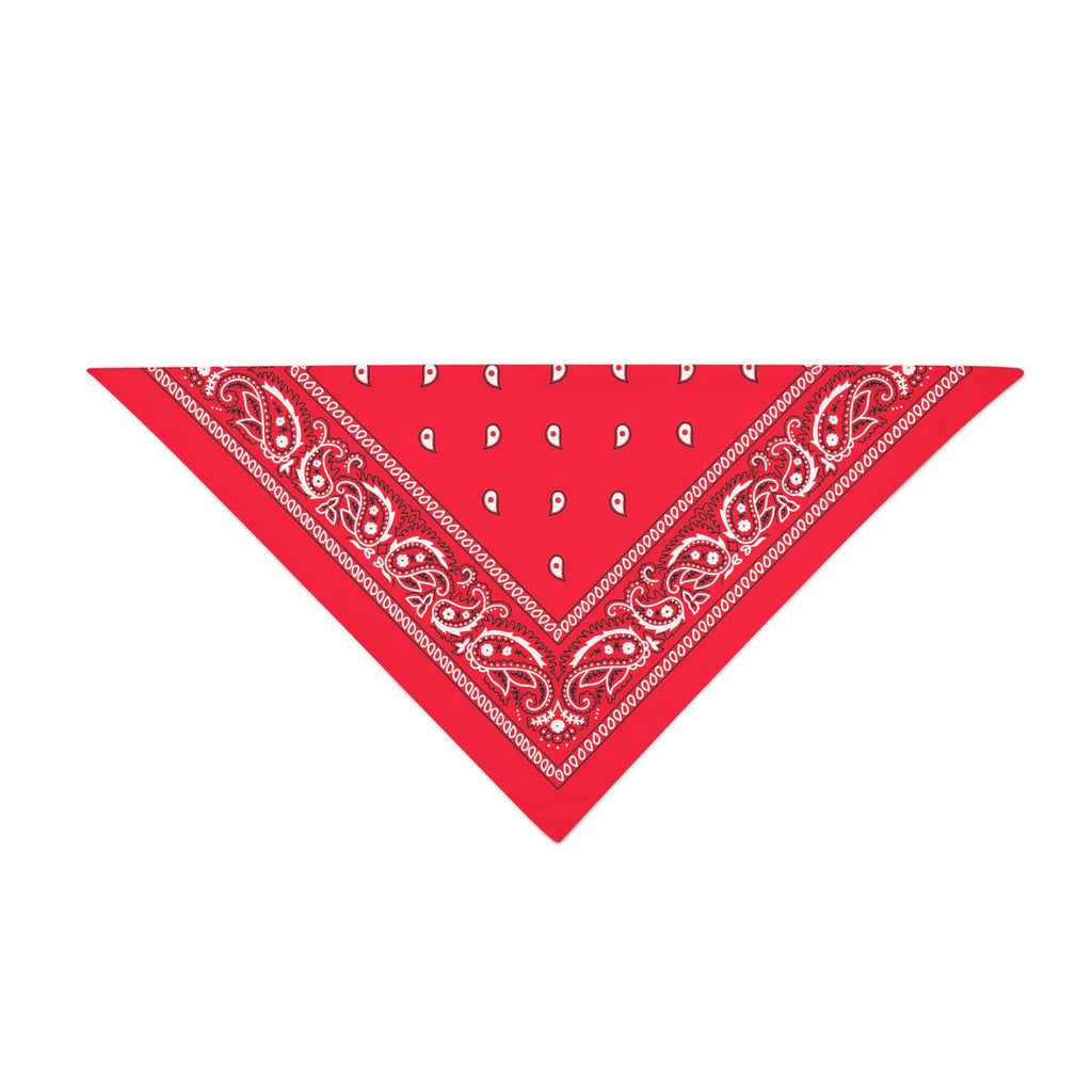 Triangle Bandana - Red Paisley