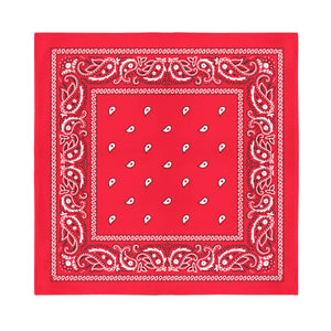 Square Bandana - Red Paisley