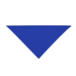 Triangle Bandana - Royal Blue Plain