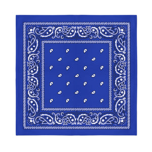 Square Bandana - Royal Blue Paisley