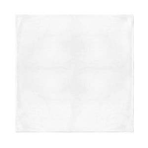 Square Bandana - White Plain