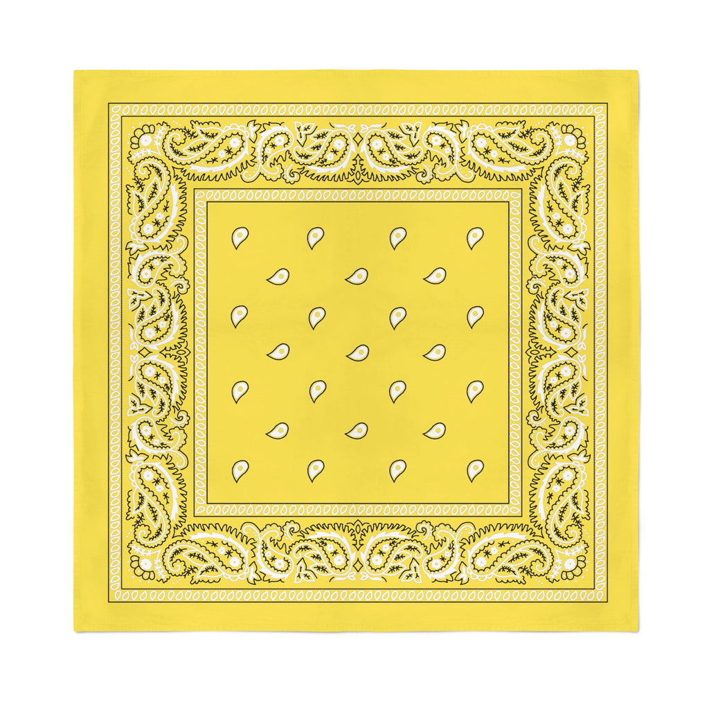Square Bandana - Yellow Paisley