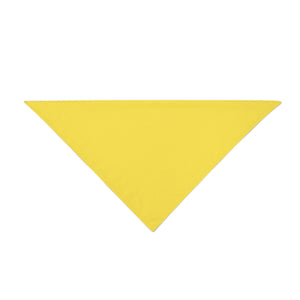 Triangle Bandana - Yellow Plain