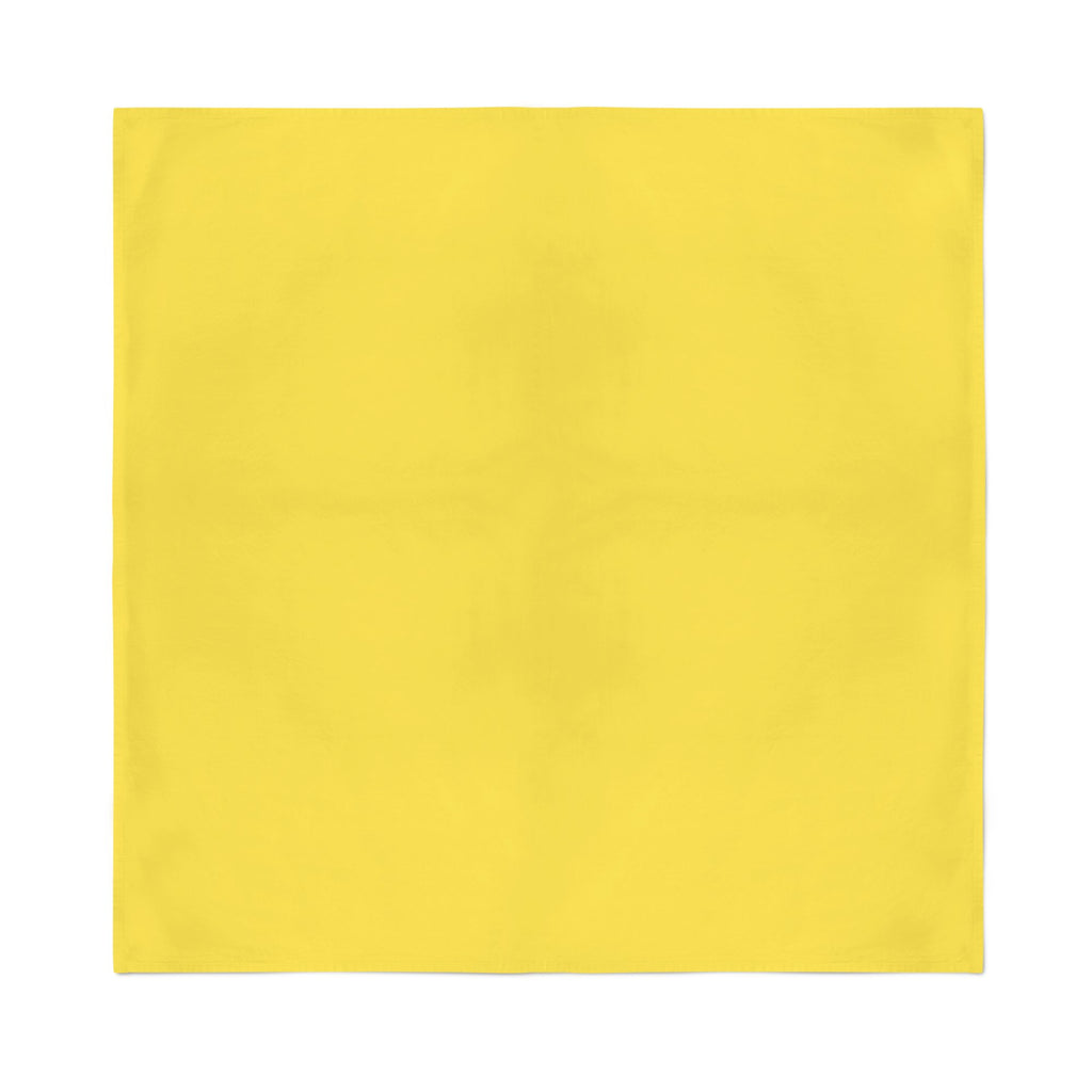 Square Bandana - Yellow Plain