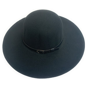Mechaly Women's Madison Black Fedora Vegan Hat