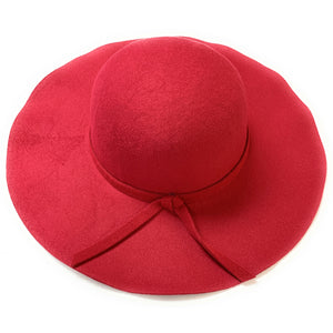 Mechaly Women's Eva Red Fedora Vegan Hat