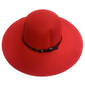 Mechaly Women's Madison Red Fedora Vegan Hat