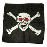 Mechaly Skull Cross 100% Cotton Black Vegan Bandanas