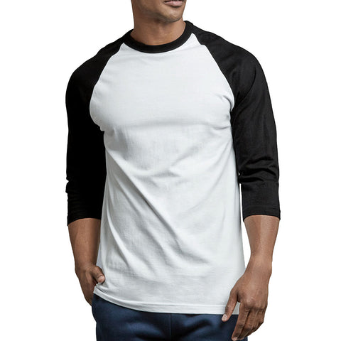 Mechaly Men Activewear 3/4 Sleeve Raglan Baseball Tee